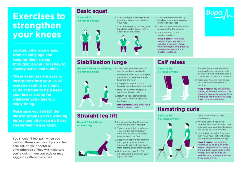 knee exercises-infographic