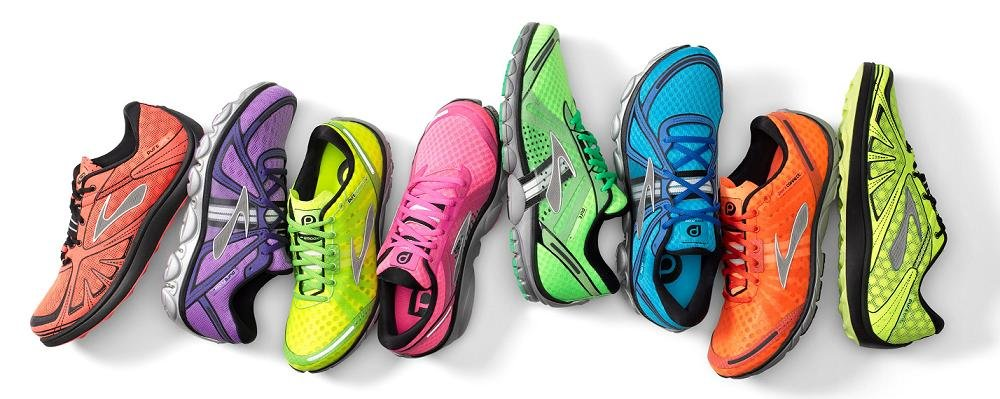 row of running shoes-image